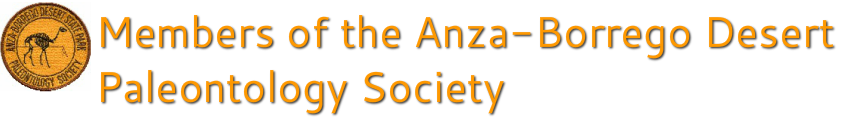 Members of the Anza-Borrego Paleontology Society